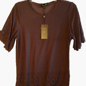 NWT Feels like Suede Expresso Top